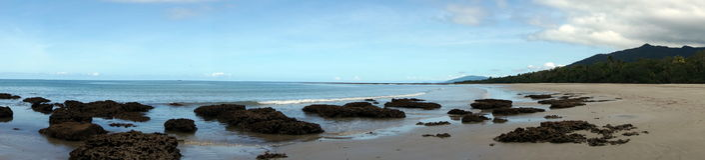 Opinião da praia de Thornton Fotografia de Stock