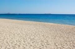 Opinião da praia do console de Naxos Imagem de Stock Royalty Free