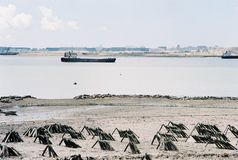 Opinião da praia na cidade Xiamen foto de stock royalty free