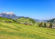 Opinião da primavera em Nidwalden Foto de Stock Royalty Free