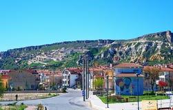 Opinião da rua da cidade Turquia de Urgup fotos de stock