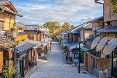 Opinião da rua da cidade de kyoto foto de stock royalty free