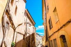 Opinião da rua da cidade em Aix-en-Provence Imagem de Stock Royalty Free