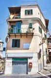 Opinião da rua da vila de Rocca di Papá - Roma fotos de stock
