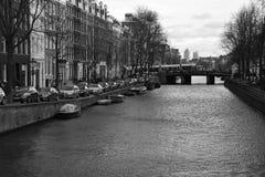 Opinião da rua de Amsterdão Fotografia de Stock Royalty Free