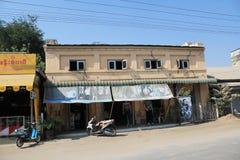 Opinião da rua de Bagan Myanmar fotos de stock