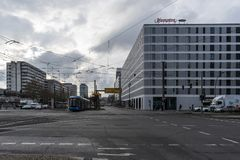 Opinião da rua de Berlim fotos de stock royalty free