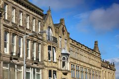 Opinião da rua de Bradford imagens de stock royalty free
