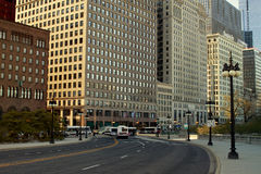 Opinião da rua de Chicago Fotografia de Stock