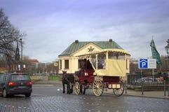 Opinião da rua de Dresden Imagens de Stock