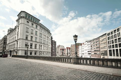 Opinião da rua de Hamburgo, Alemanha Fotografia de Stock Royalty Free