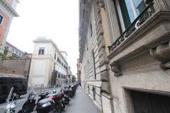 Opinião da rua de Itália Roma Fotos de Stock