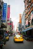 Opinião da rua de Kaohsiung fotos de stock