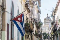 Opinião da rua de La Habana Vieja, La Havana, Cuba Imagem de Stock Royalty Free