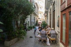 Opinião da rua de La Habana Vieja, o lugar o mais turístico do La Havana, Cuba Fotos de Stock