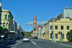 Opinião da rua de Melbourne Foto de Stock Royalty Free