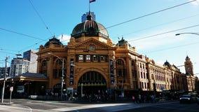 Opinião da rua de Melbourne Imagens de Stock Royalty Free