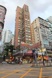 Opinião da rua de Mong Kok em Hong Kong Foto de Stock