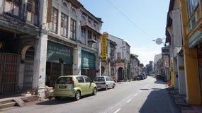 Opinião da rua de Penang fotografia de stock royalty free