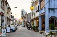 Opinião da rua de Penang em Malásia Os povos podem exploração vista em torno da rua Fotos de Stock Royalty Free