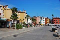 Opinião da rua de Rovinij Fotografia de Stock Royalty Free