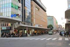 Opinião da rua de Shijo Dori imagem de stock
