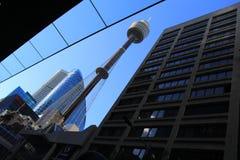 Opinião da rua de Sydney Tower Foto de Stock Royalty Free