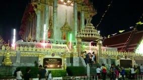 Opinião da rua de Tailândia do templo antigo em Samut Prakan, Tailândia video estoque