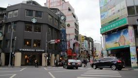 Opinião da rua de Taipei Hsimending HD video estoque