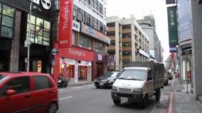 Opinião da rua de Taipei Hsimending HD vídeos de arquivo