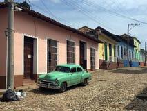 Opinião da rua de Trinidad, Cuba Imagens de Stock Royalty Free