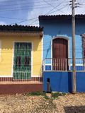 Opinião da rua de Trinidad, Cuba Fotos de Stock Royalty Free
