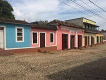 Opinião da rua de Trinidad, Cuba Fotografia de Stock Royalty Free