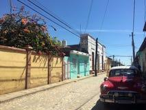 Opinião da rua de Trinidad, Cuba Imagem de Stock Royalty Free