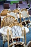 Opinião da rua de um terraço do café Imagens de Stock