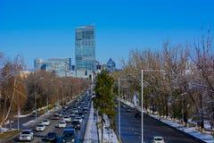 Opinião da rua do al-farabi Fotos de Stock Royalty Free
