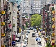 Opinião da rua do bairro chinês de New York City Imagem de Stock Royalty Free