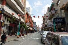 Opinião da rua do bairro chinês San Francisco Fotos de Stock Royalty Free