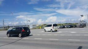 Opinião da rua do porto de Naha Foto de Stock