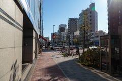 Opinião da rua do Tóquio fotos de stock royalty free