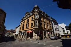 Opinião da rua em Coburg, Alemanha Imagens de Stock Royalty Free