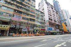 Opinião da rua em Hong Kong Causeway Bay imagens de stock
