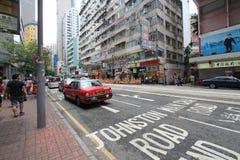 Opinião da rua em Hong Kong Causeway Bay foto de stock royalty free