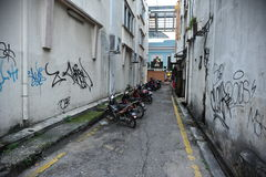 Opinião da rua em Kuala Lumpur Foto de Stock Royalty Free