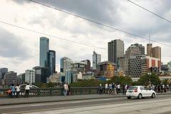 Opinião da rua em Melbourne, Austrália Imagem de Stock Royalty Free