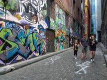 Opinião da rua em melbourne, Austrália Foto de Stock