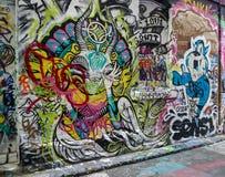 Opinião da rua em melbourne, Austrália Imagens de Stock Royalty Free