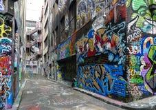 Opinião da rua em melbourne, Austrália Fotos de Stock Royalty Free