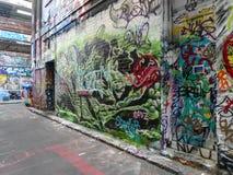 Opinião da rua em melbourne, Austrália Fotos de Stock