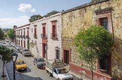 Opinião da rua em Oaxaca México Imagens de Stock Royalty Free